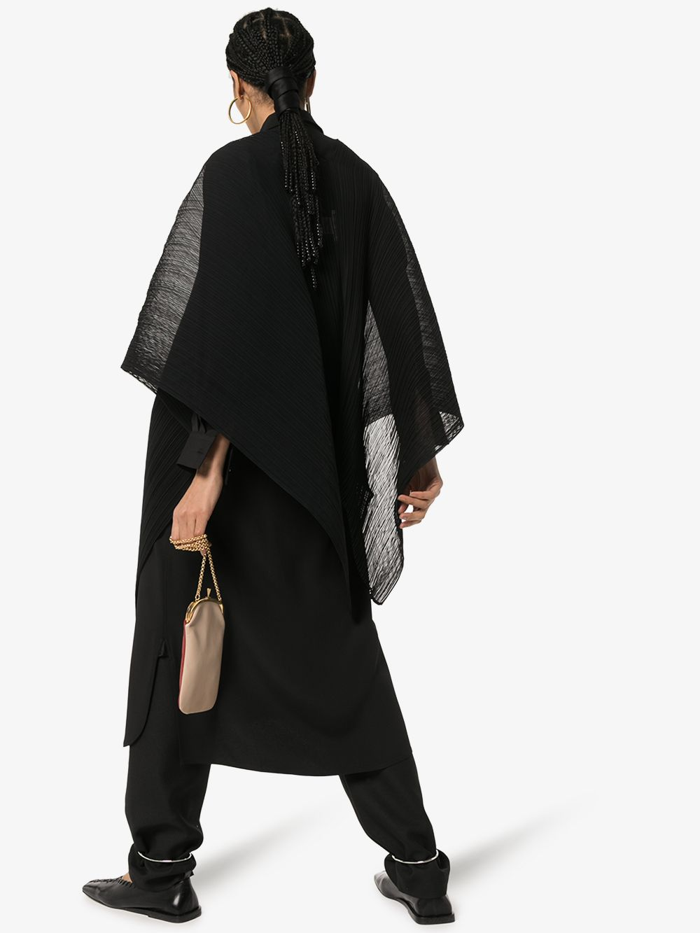 Picture of Issey Miyake Pleats Please | Madame T Sheer Poncho