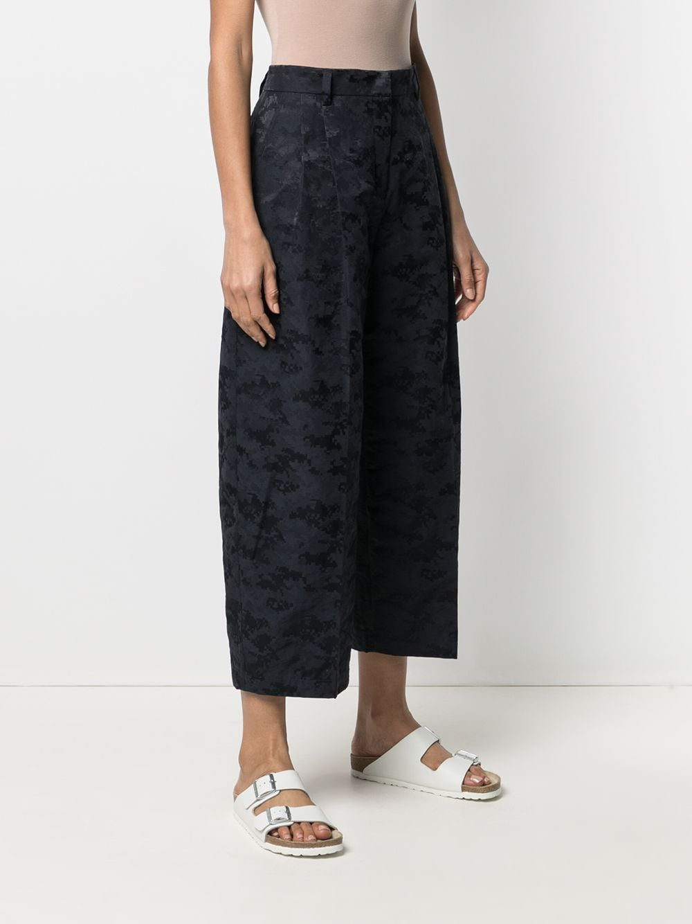 Picture of Aspesi | Abstract Print Cropped Trousers