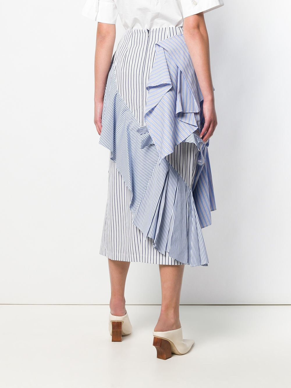 Picture of Enfold | Ruffle Stripe Skirt