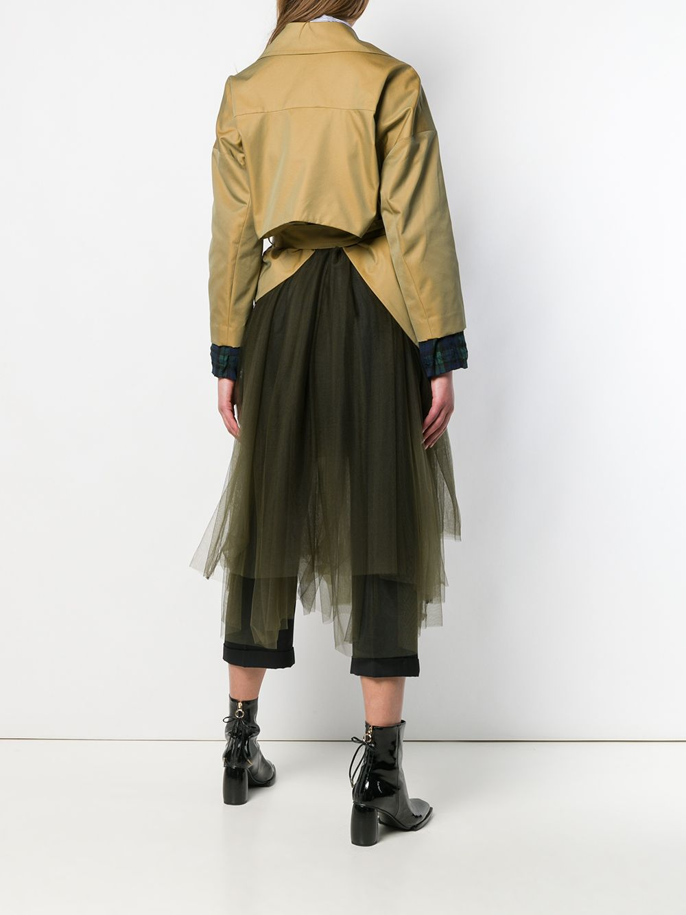 Picture of Enfold | Tulle Skirt Trench Coat