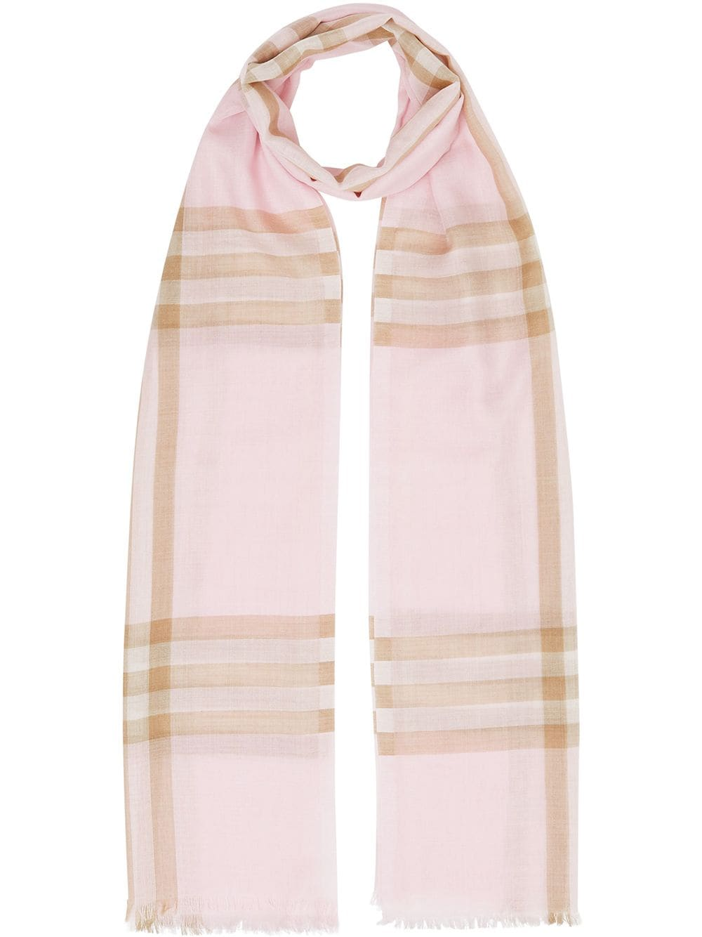 Picture of Burberry   Lightweight Check Wool Silk Scarf