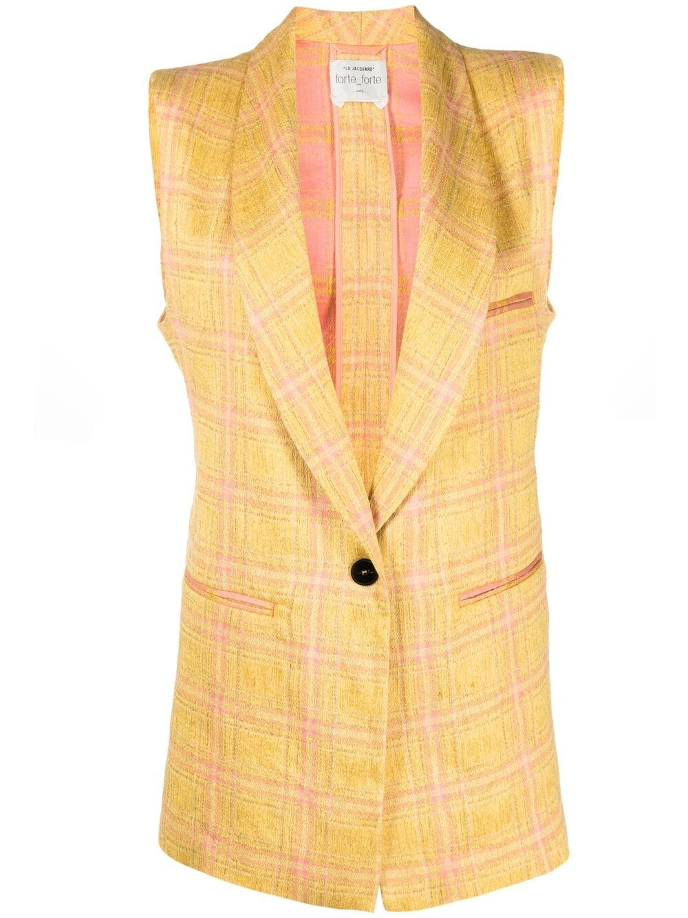 Picture of Forte_Forte | Plaid Waistcoat