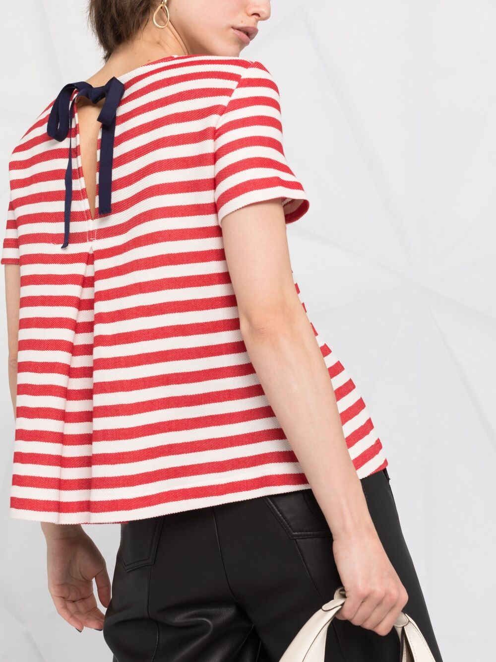 Picture of Semicouture   Striped Logo-Print T-Shirt