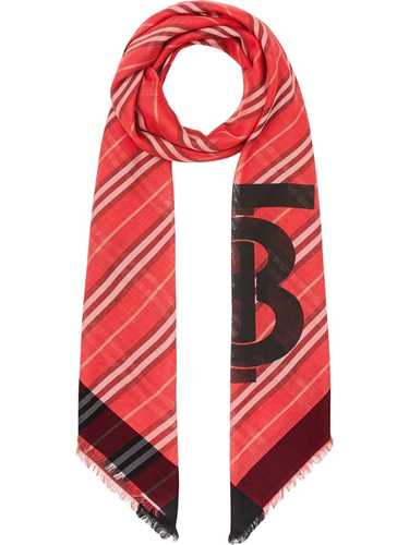Picture of Burberry | Monogram Icon Stripe Wool Silk Scarf