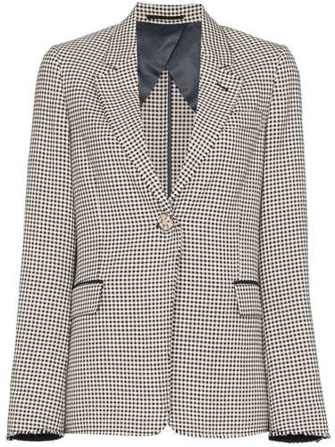Picture of Golden Goose Deluxe Brand | Single-Breasted Gingham Blazer