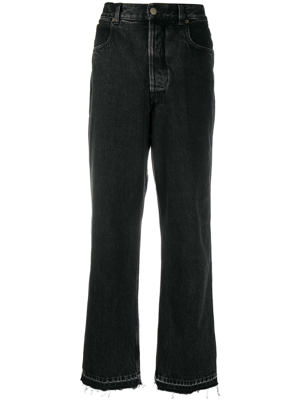 Picture of Golden Goose Deluxe Brand   Raw Edge Wide-Leg Jeans