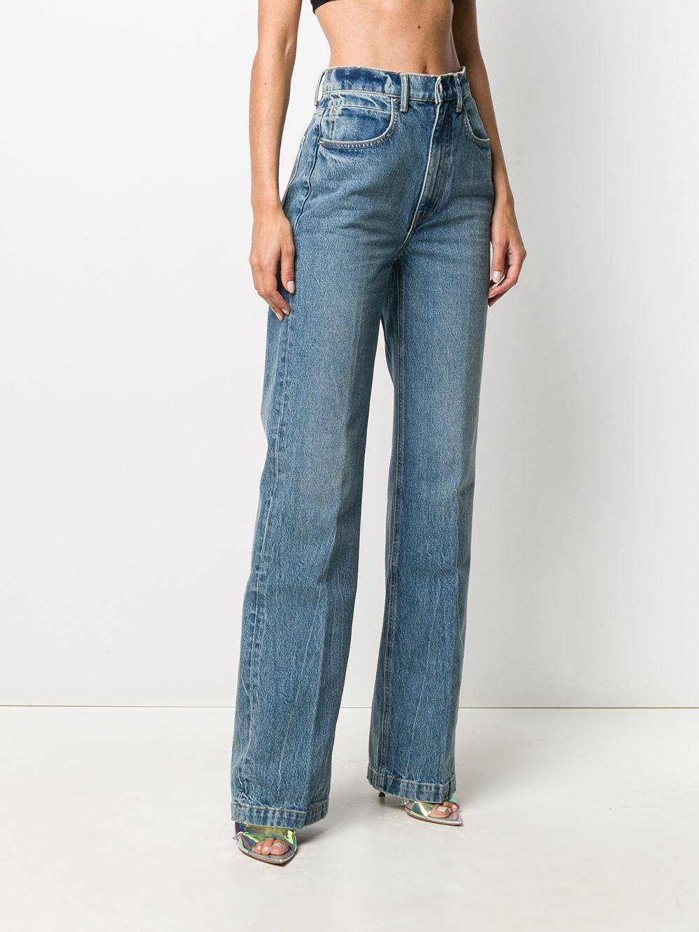 Picture of Alexander Wang | High-Waisted Wide Leg Jeans