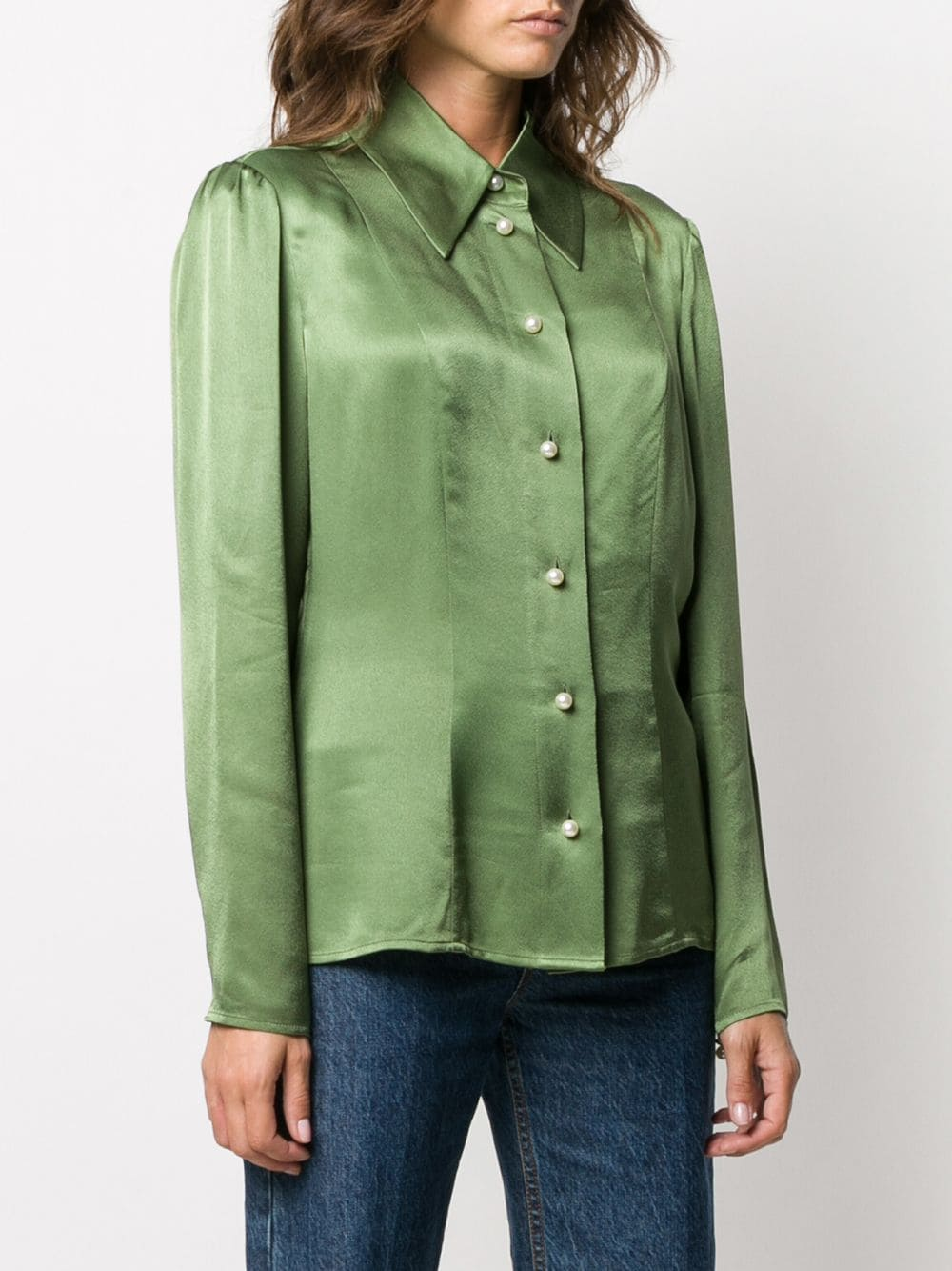 Picture of Alexa Chung   Clapton Saatin Shirt