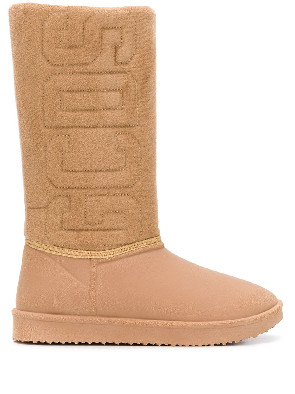 Picture of Gcds | Logo Shearling Boots