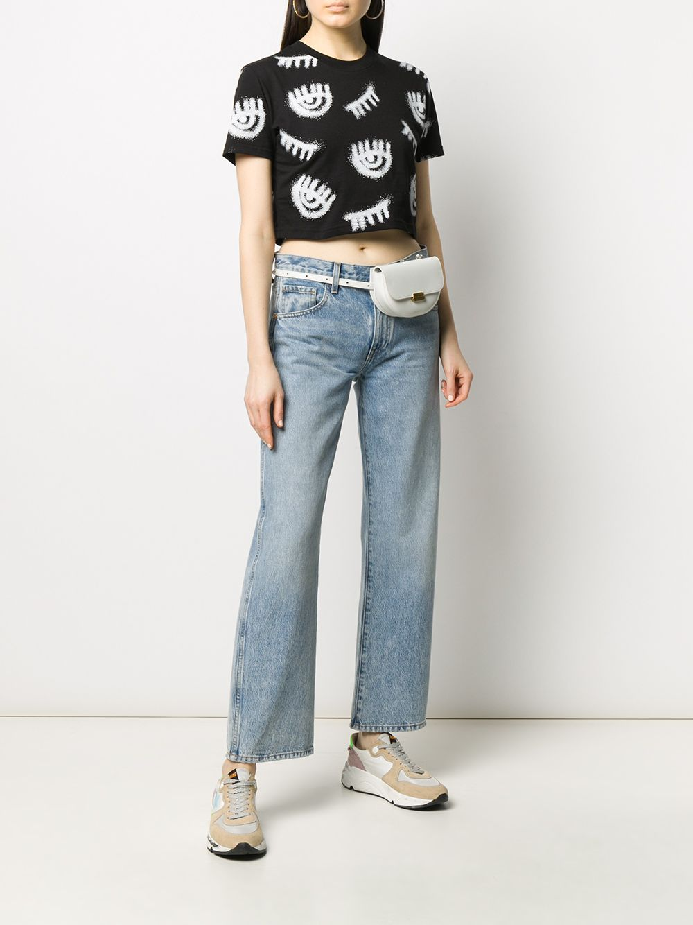 Picture of Chiara Ferragni | Eye Print Cropped T-Shirt