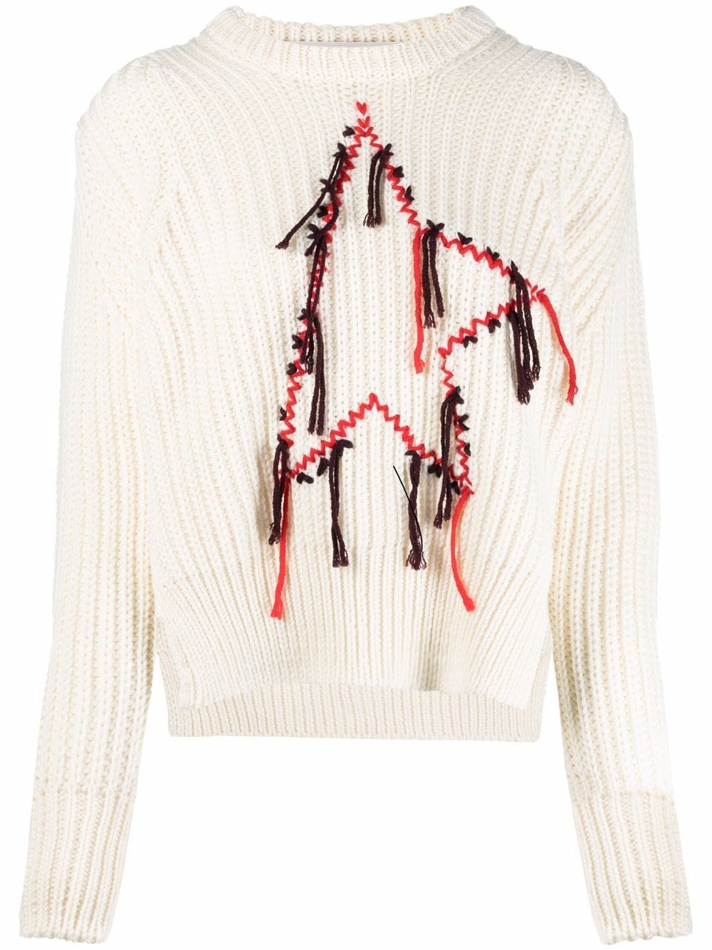 Picture of Golden Goose Deluxe Brand   Dottie Mending Embroidered Jumper