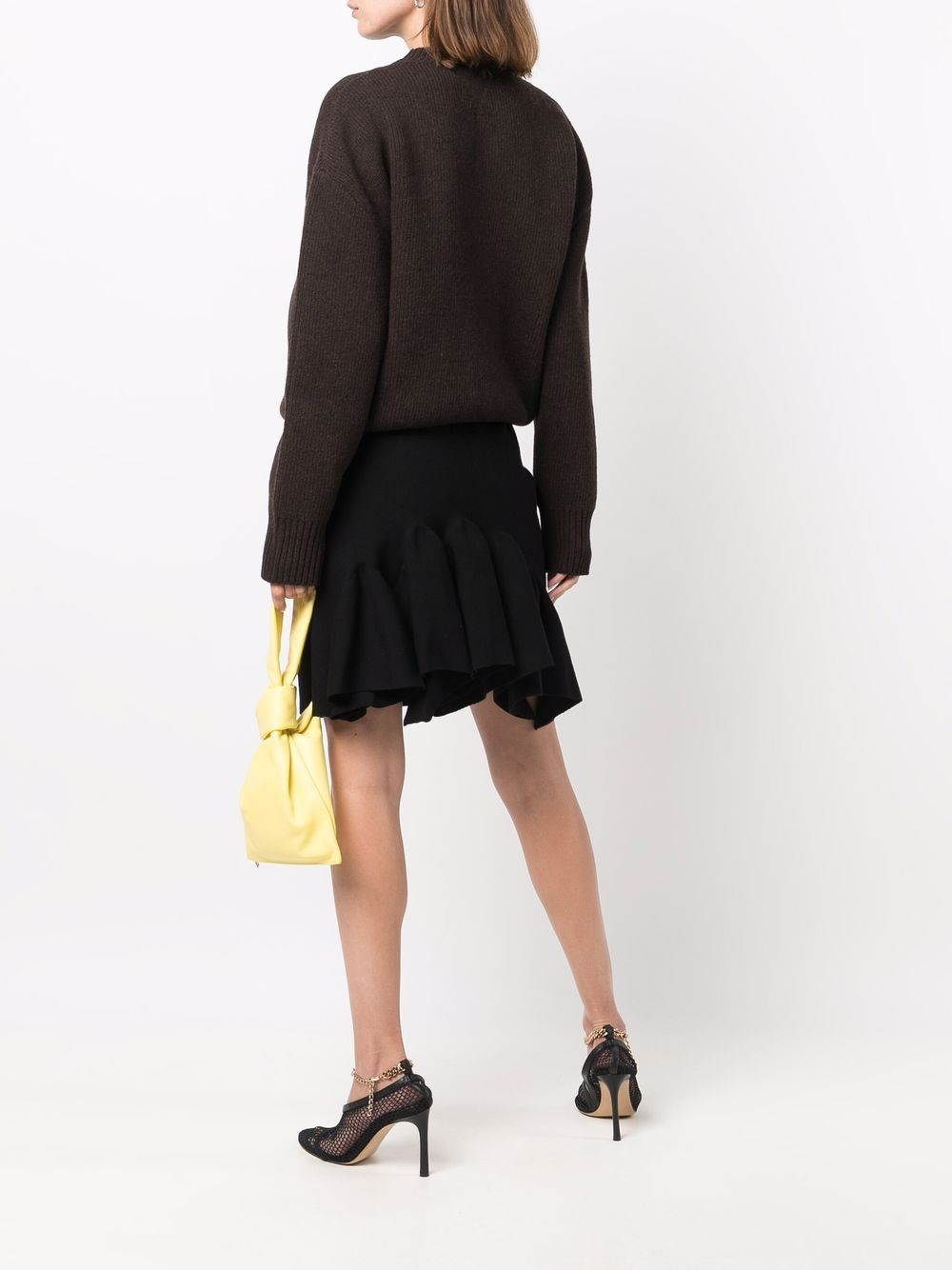 Picture of Bottega Veneta | Square-Neck Knitted Mini Skirt