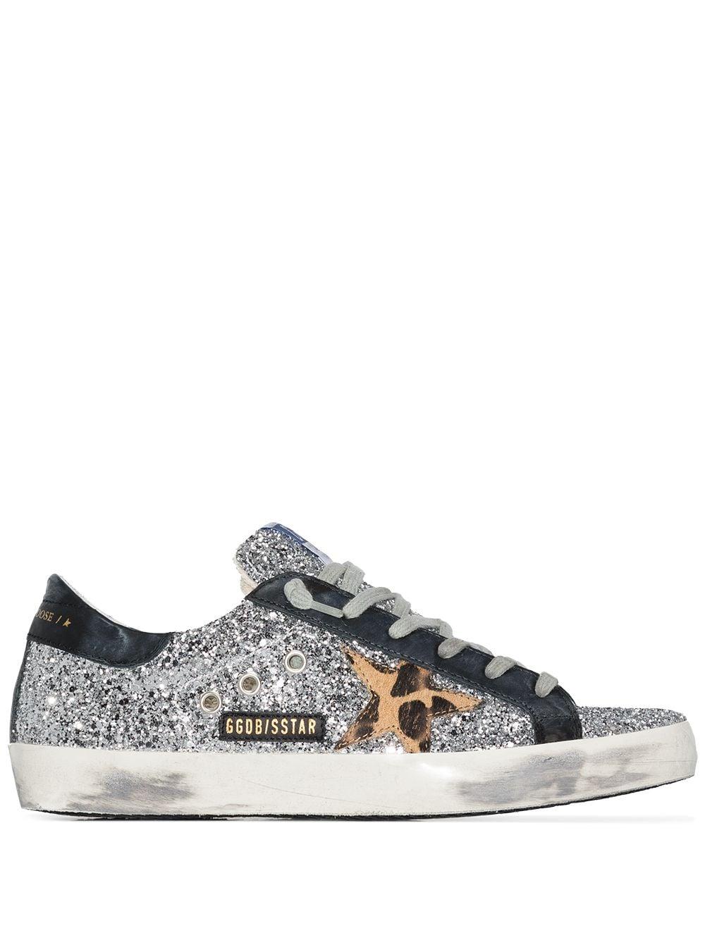 Picture of Golden Goose Deluxe Brand | Superstar Glitter Sneakers