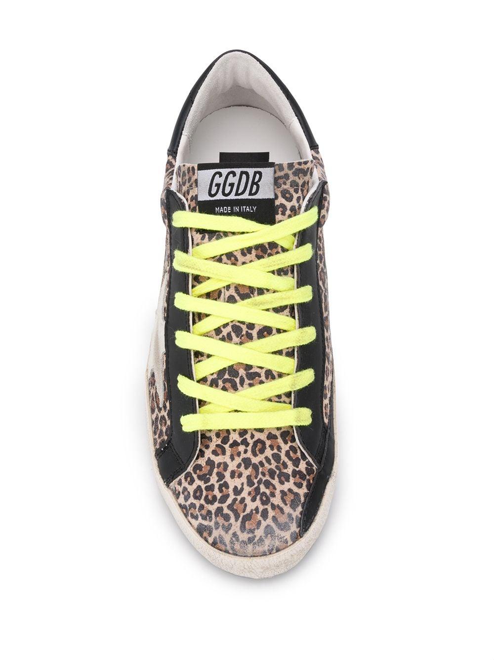 Picture of Golden Goose Deluxe Brand | Superstar Leopard-Print Sneakers
