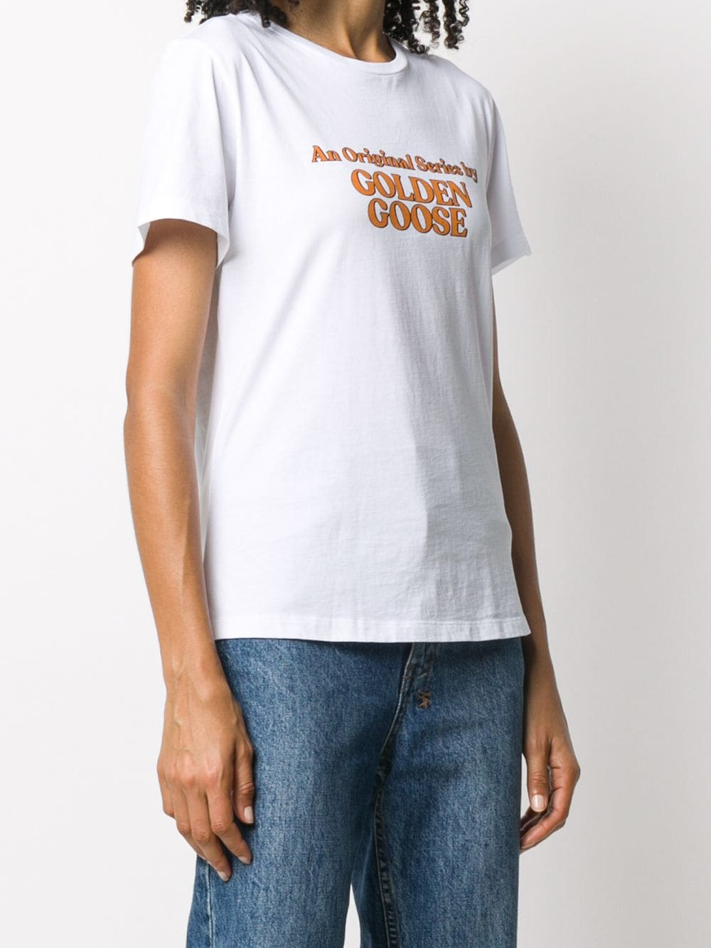 Picture of Golden Goose Deluxe Brand | Logo Print T-Shirt