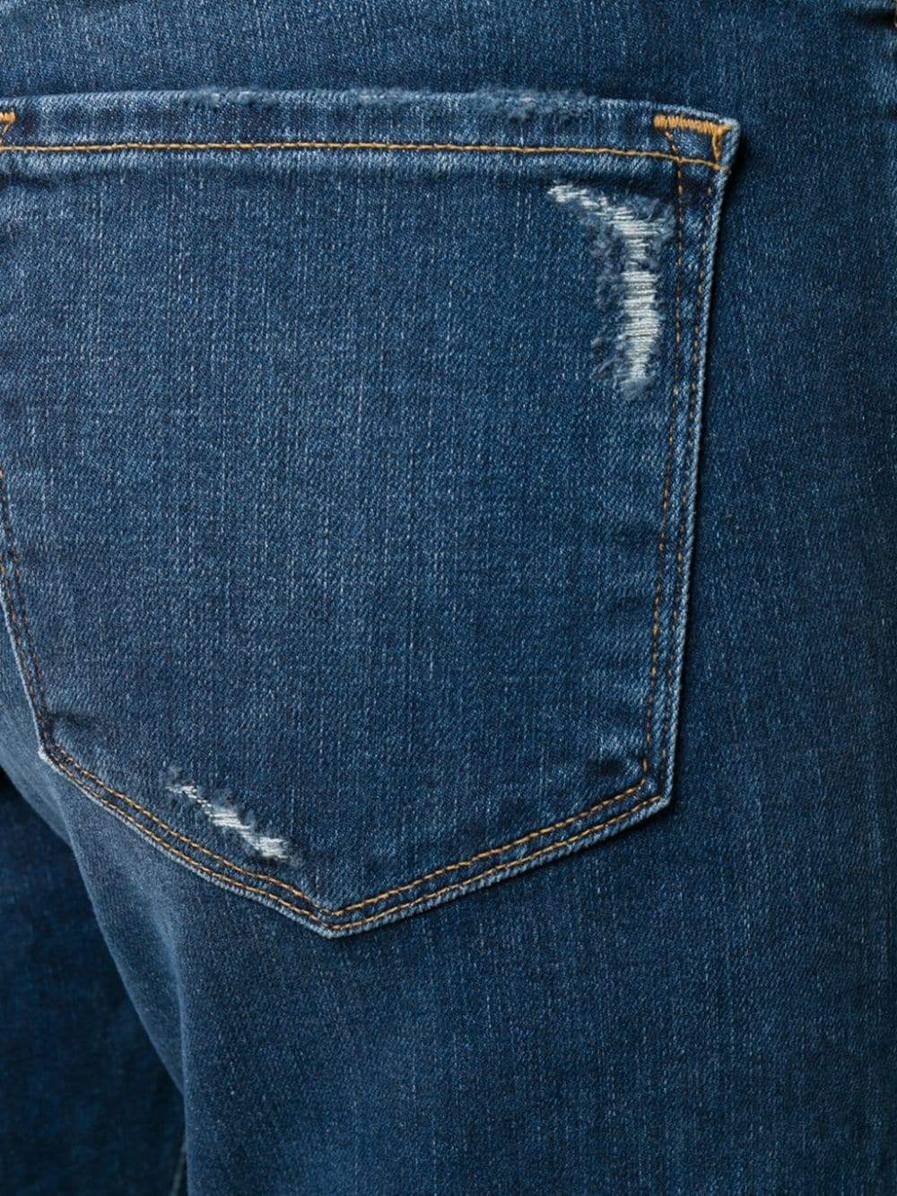 Picture of Frame Denim   Le Garcon Straight-Leg Distressed Jeans