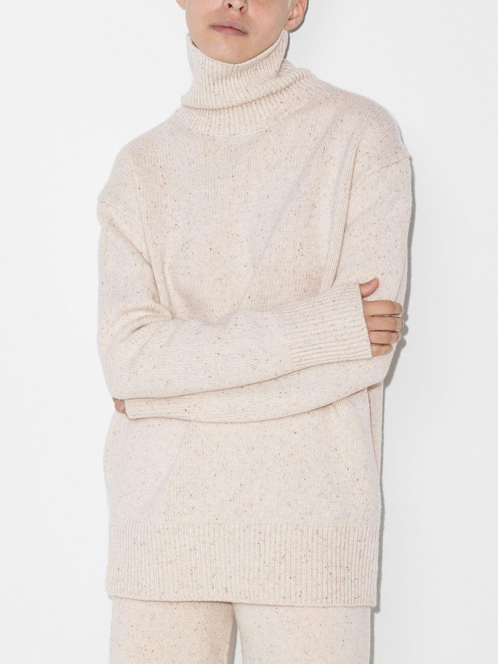 Picture of Joseph | High-Neck Tweed Jumper