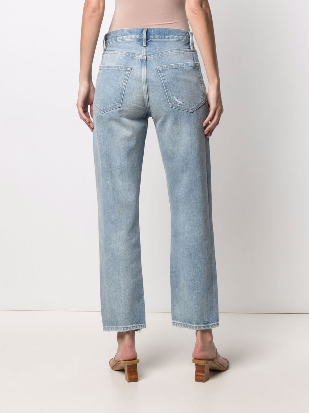 Picture of Frame Denim | Faded Slim-Cut Jeans