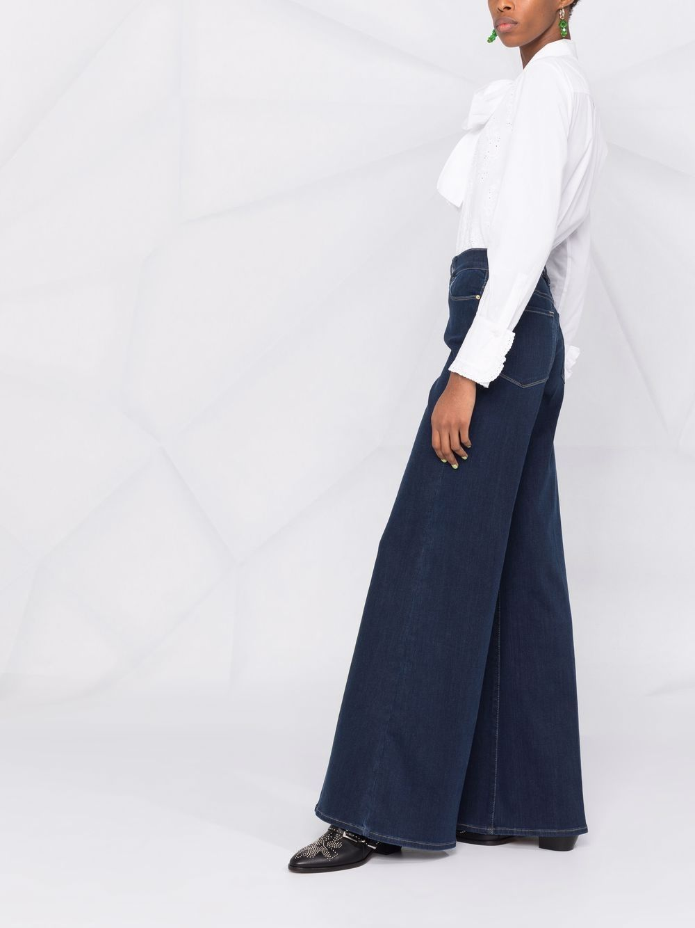 Picture of Frame Denim | High-Waist Palazzo Jeans