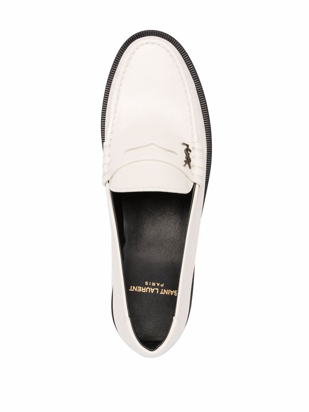 Picture of Saint Laurent | Le Loafer Monogram Penny Slippers