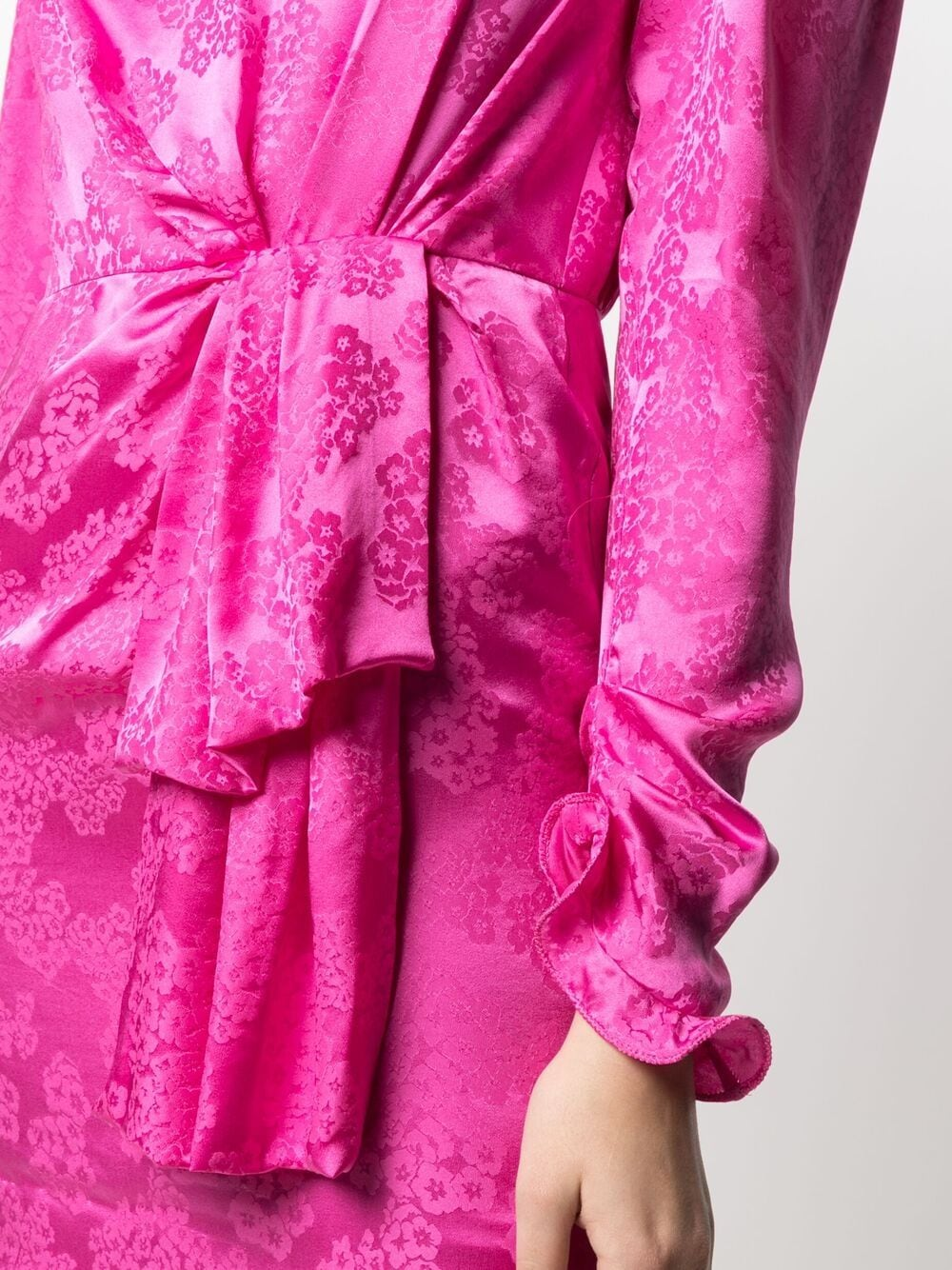 Picture of Saloni | Floral Print Silk Dress
