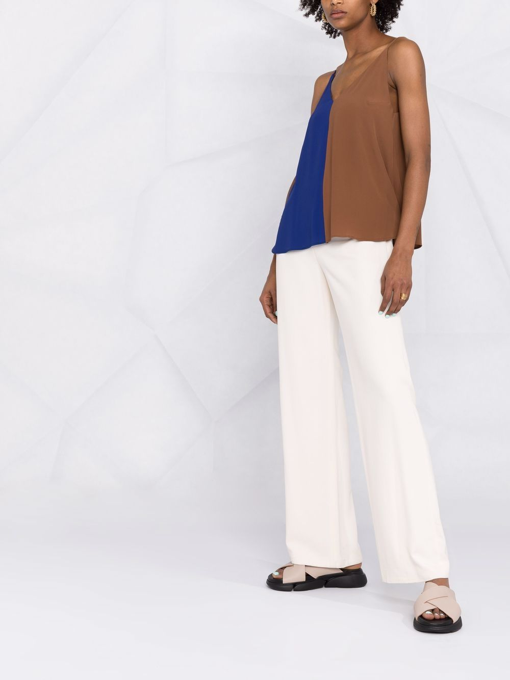 Picture of Semicouture | Lightweight Two-Tone Top