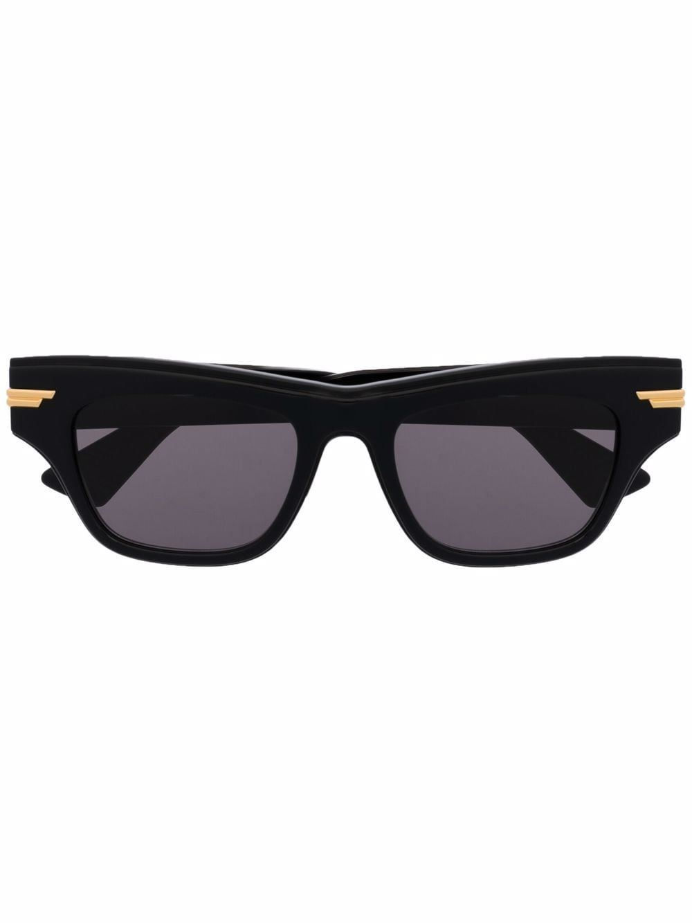 Picture of Bottega Veneta | Rectangle-Frame Tortoiseshell-Effect Sunglasses