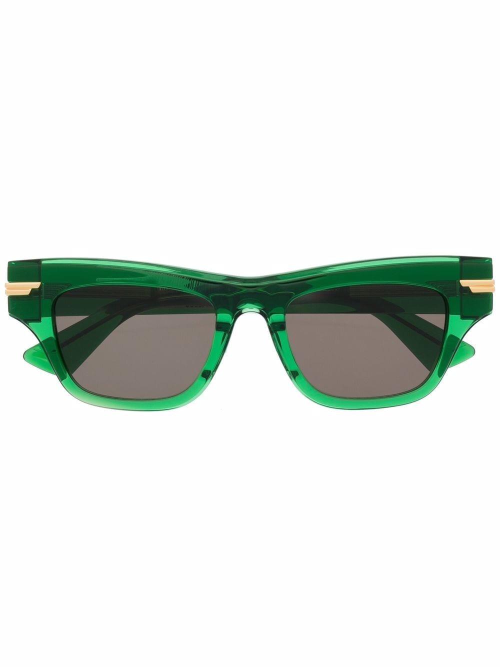 Picture of Bottega Veneta   Rectangle-Frame Tortoiseshell-Effect Sunglasses
