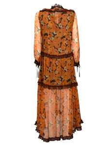 Picture of Coach | Foral Long-Sleeve Flared Dress