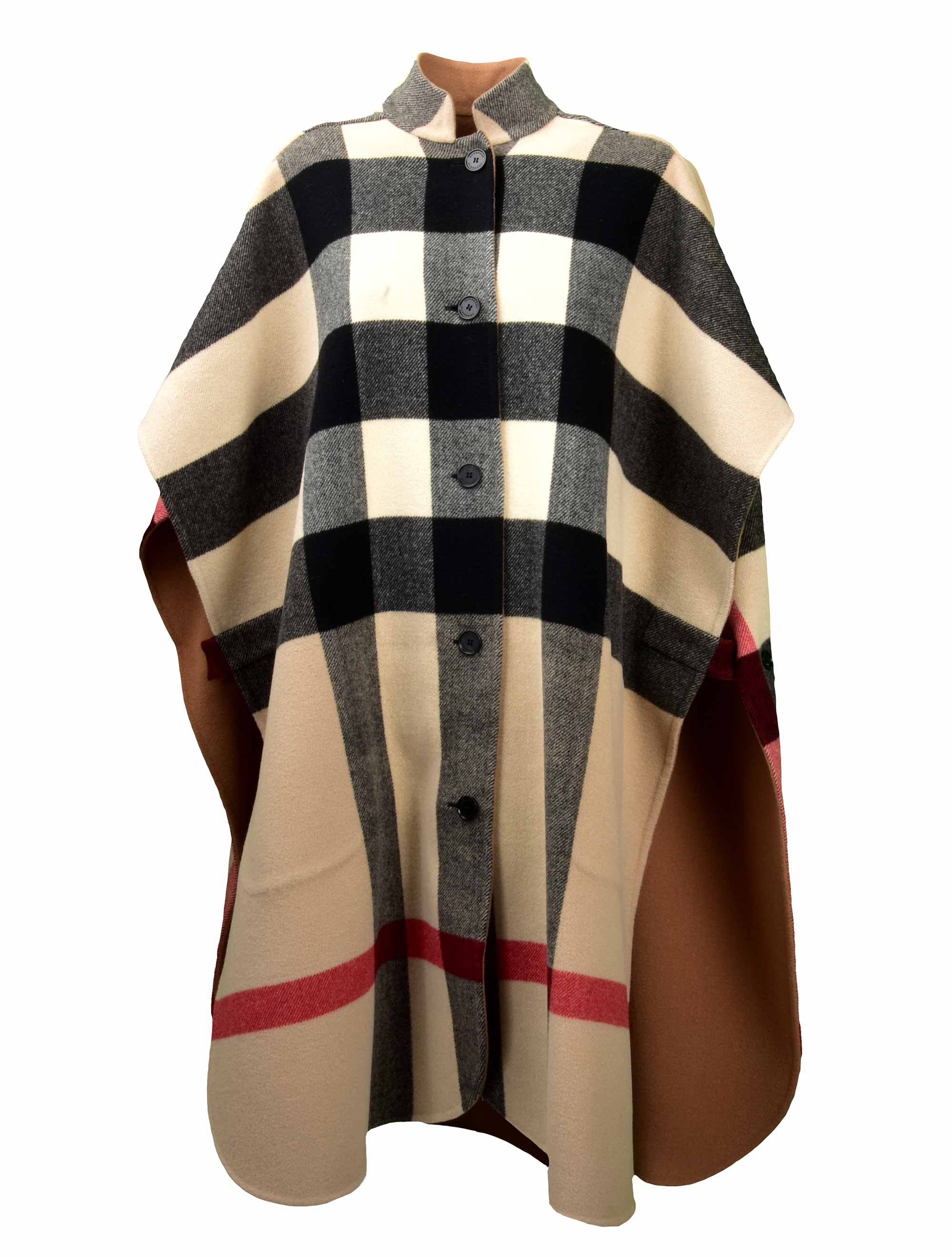 Picture of Burberry | Reversible Check Oversized Poncho