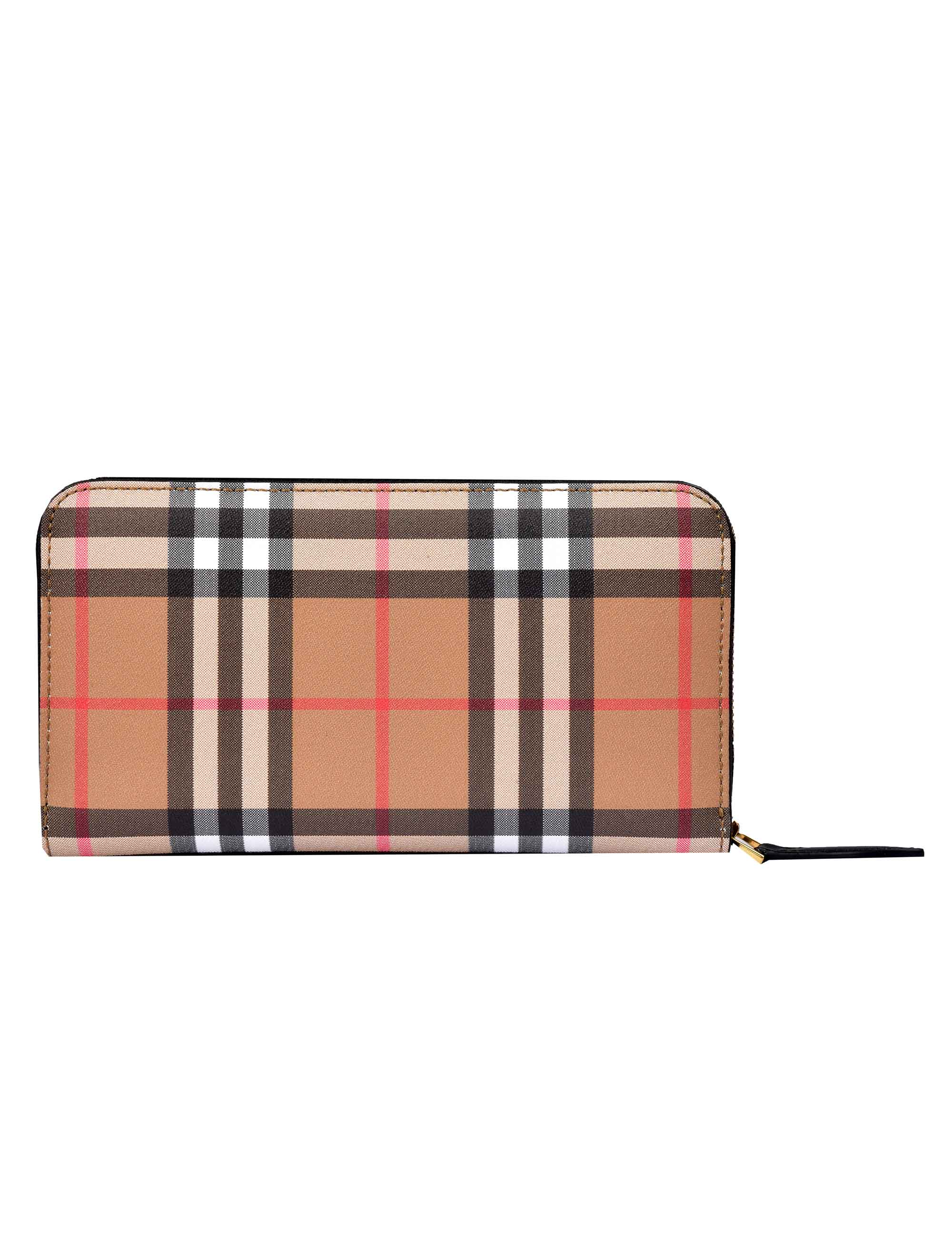Picture of Burberry | Vintage Check And Leather Ziparound Wallet