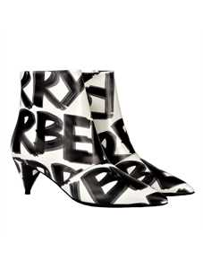 Picture of Burberry | Graffiti Print Leather Ankle Boots