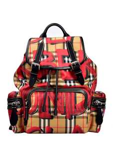 Picture of Burberry | The Small Crossbody Rucksack In Graffiti Print Vintage Check