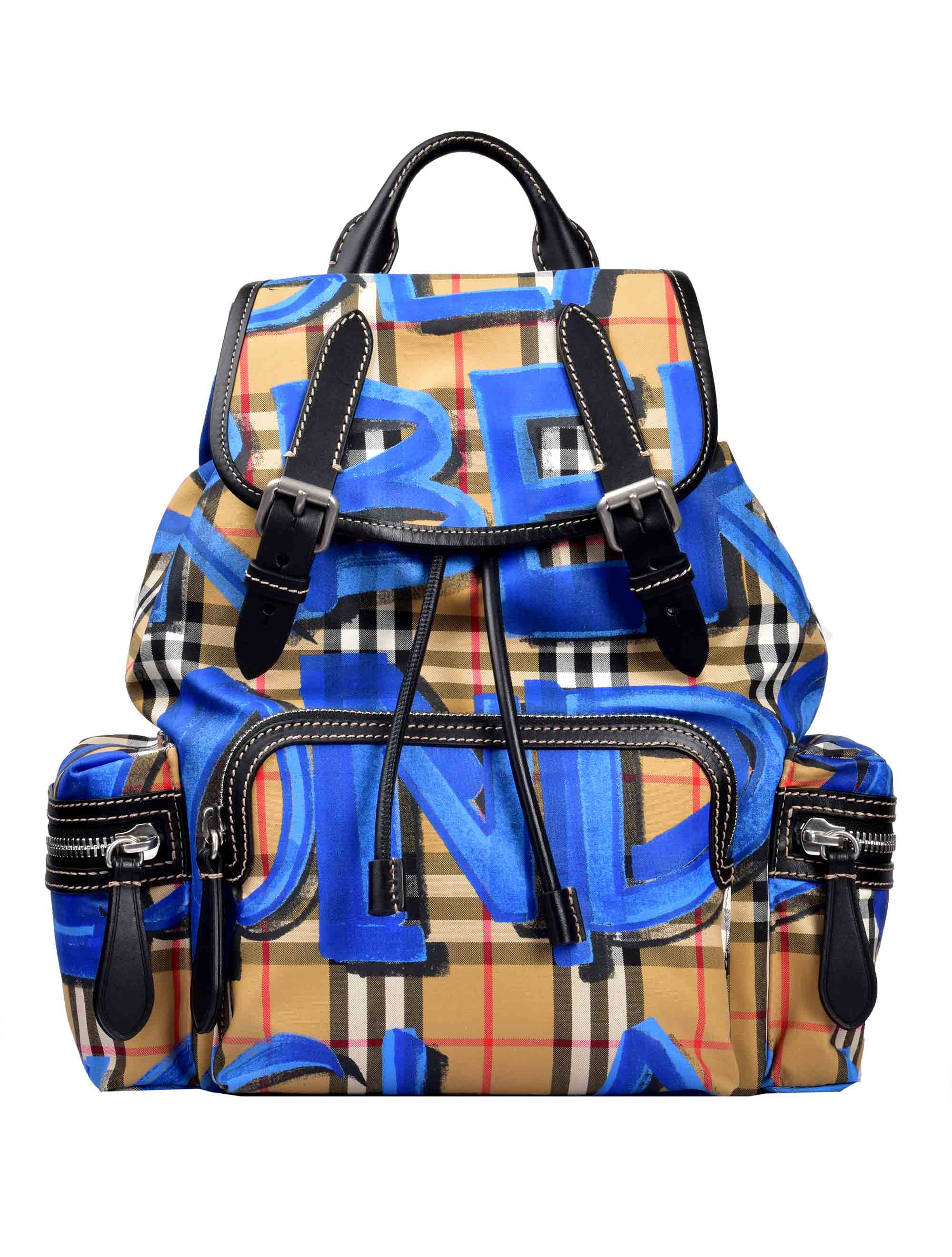f6d6602c Picture of Burberry | The Small Crossbody Rucksack In Graffiti Print  Vintage Check
