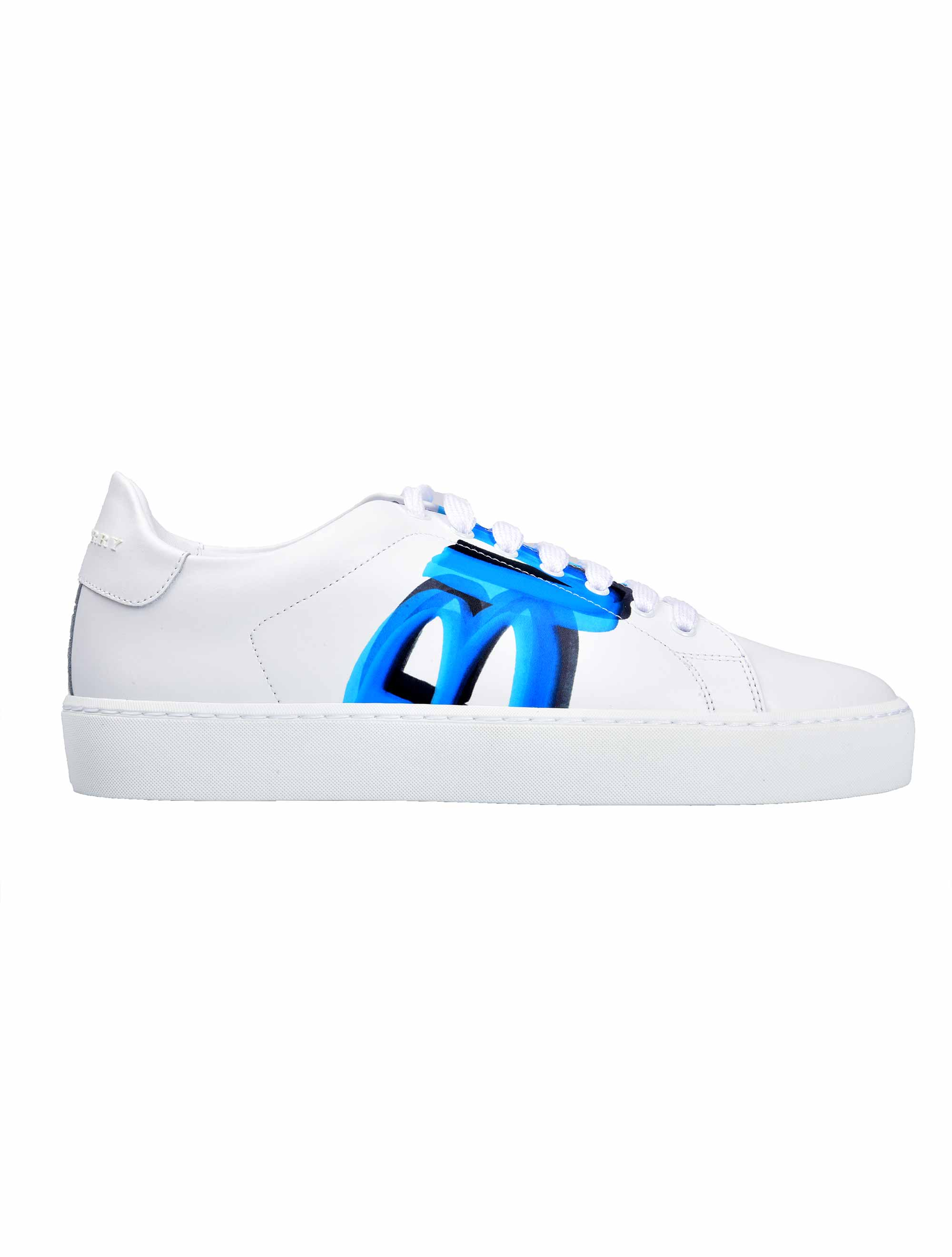 Picture of Burberry | Graffiti Print Leather Sneakers
