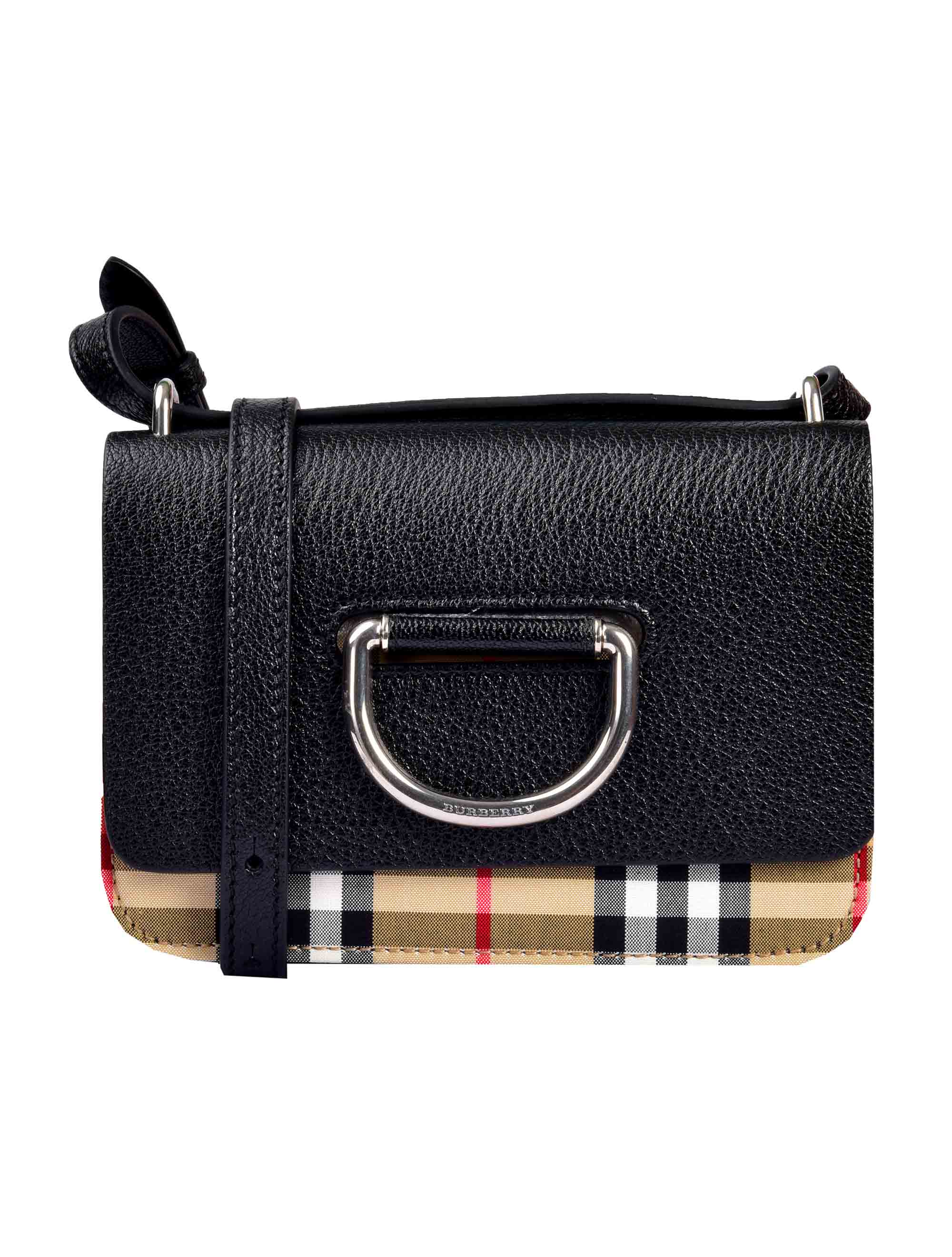 Picture of Burberry | The Mini Vintage Check And Leather D-Ring Bag