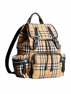 Picture of Burberry | The Medium Rucksack In Vintage Check Cotton Canvas