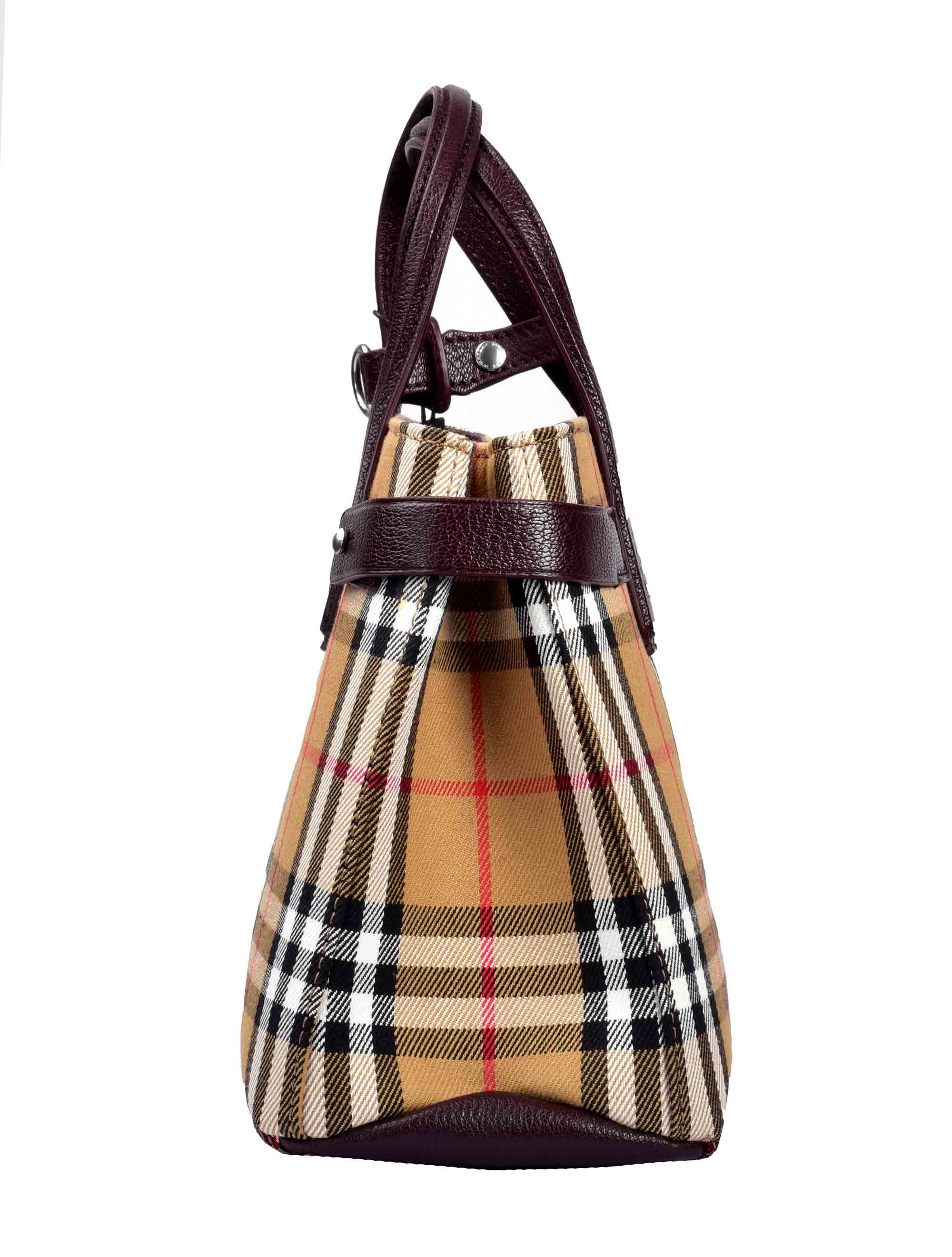 Picture of Burberry | The Small Banner In Vintage Check And Leather