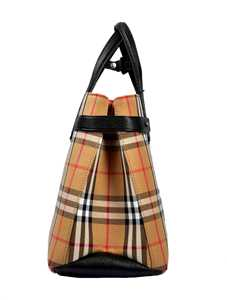 Picture of Burberry | The Small Banner In Vintage Check And Leathe