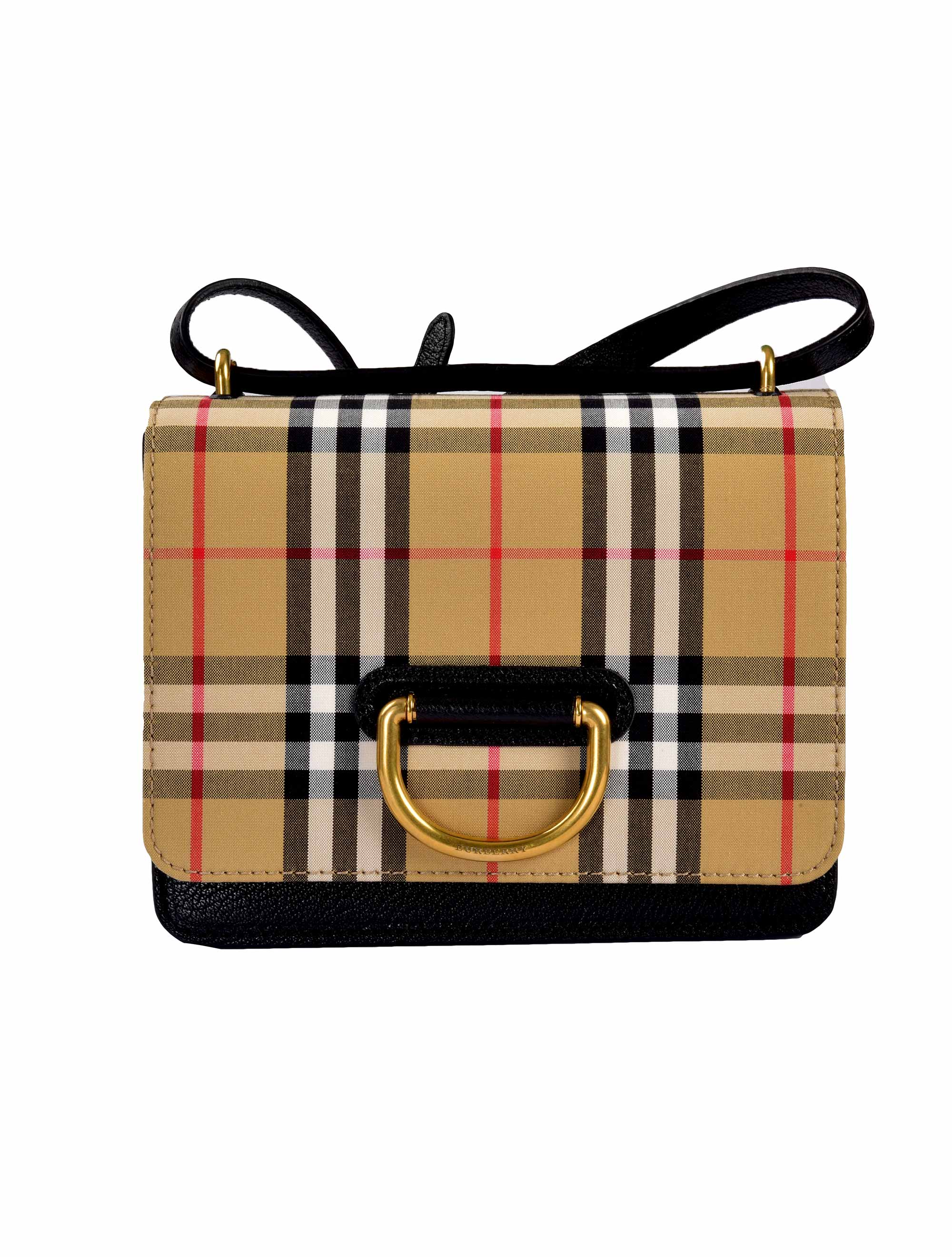 Picture of Burberry | Small Vintage Check D-Ring Bag