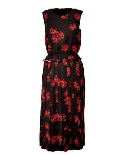 Picture of Simone Rocha | Floral Print Midi Dress