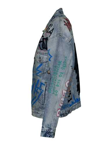 Picture of Balenciaga | Graffiti Oversized Denim Jacket