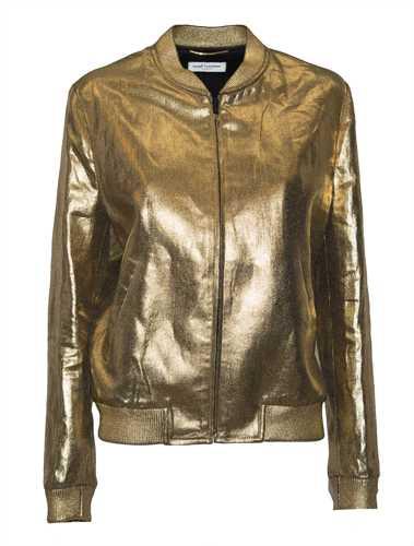 Picture of Saint Laurent | Metallic Teddy Jacket