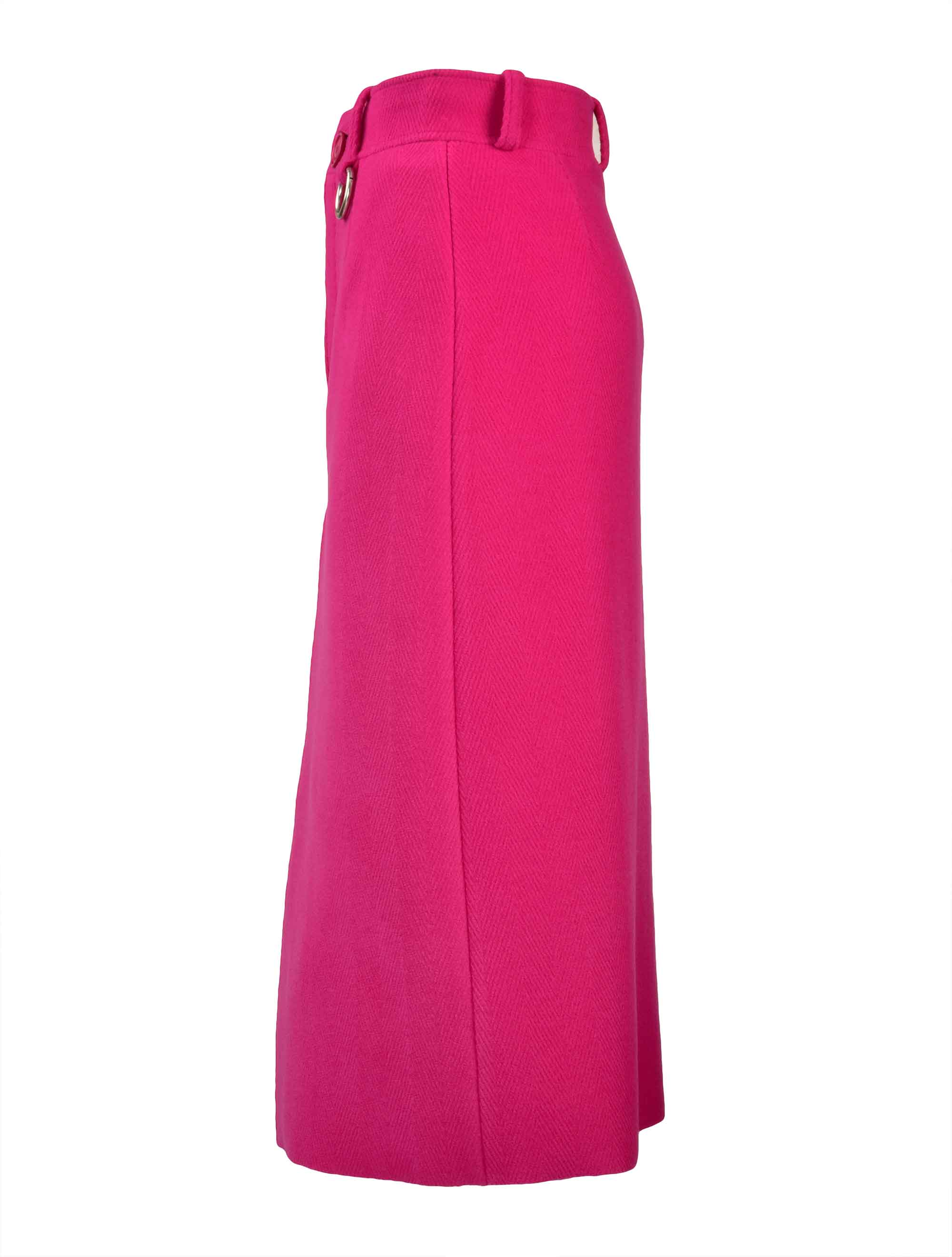 Picture of Balenciaga | Pleat Skirt In Herringbone Wool