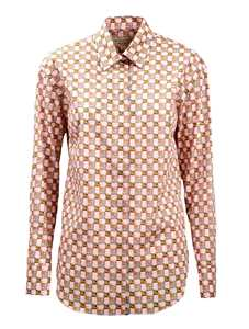 Picture of Burberry | Tiled Archive Print Cotton Shirt