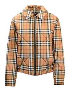 Picture of Burberry | Vintage Check Diamond Quilted Jacket