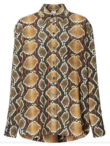 Picture of Burberry | Python Print Buttoned Shirt