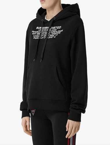 Picture of Burberry | Location Print Oversized Hoodie