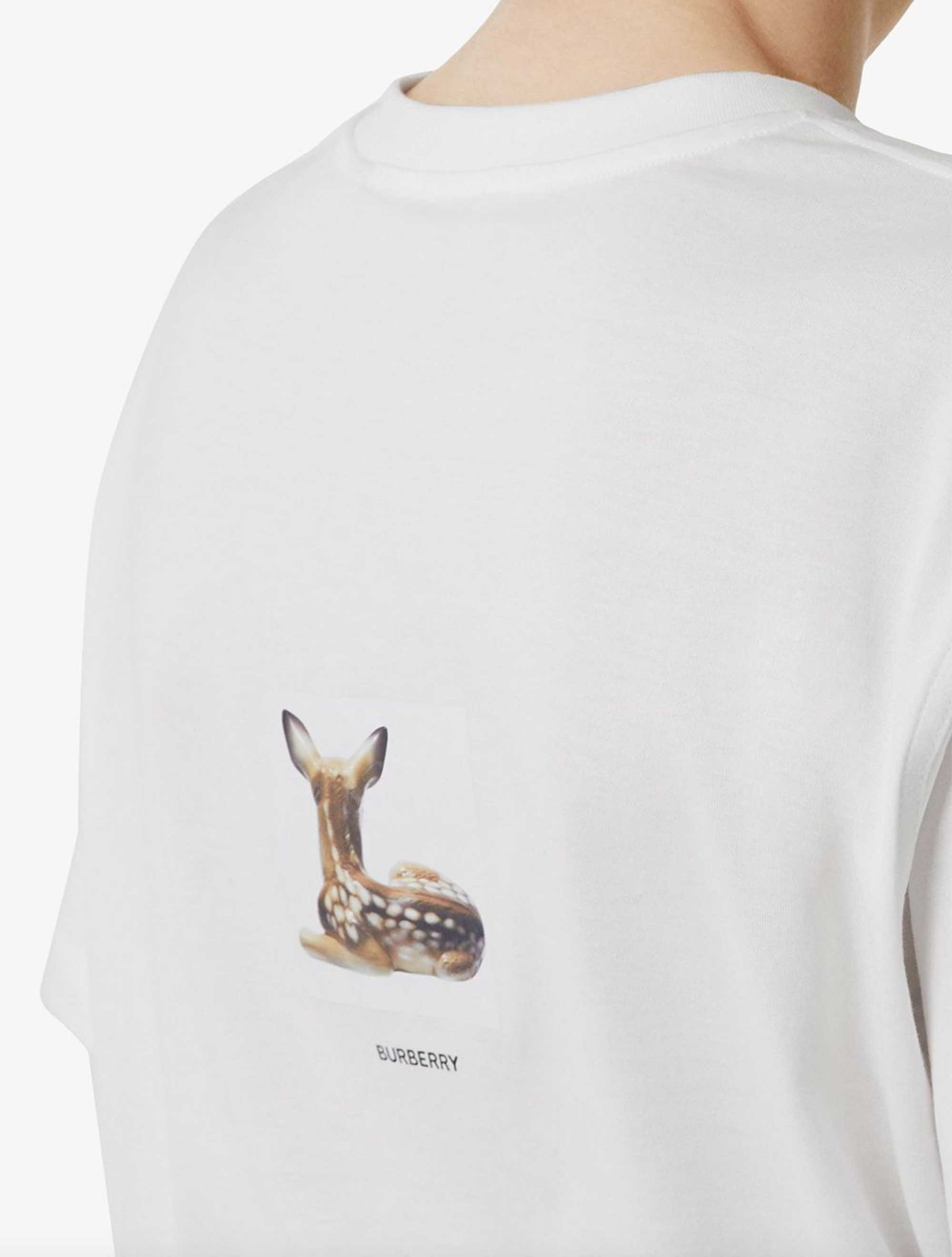 Picture of Burberry | Deer Print T-Shirt