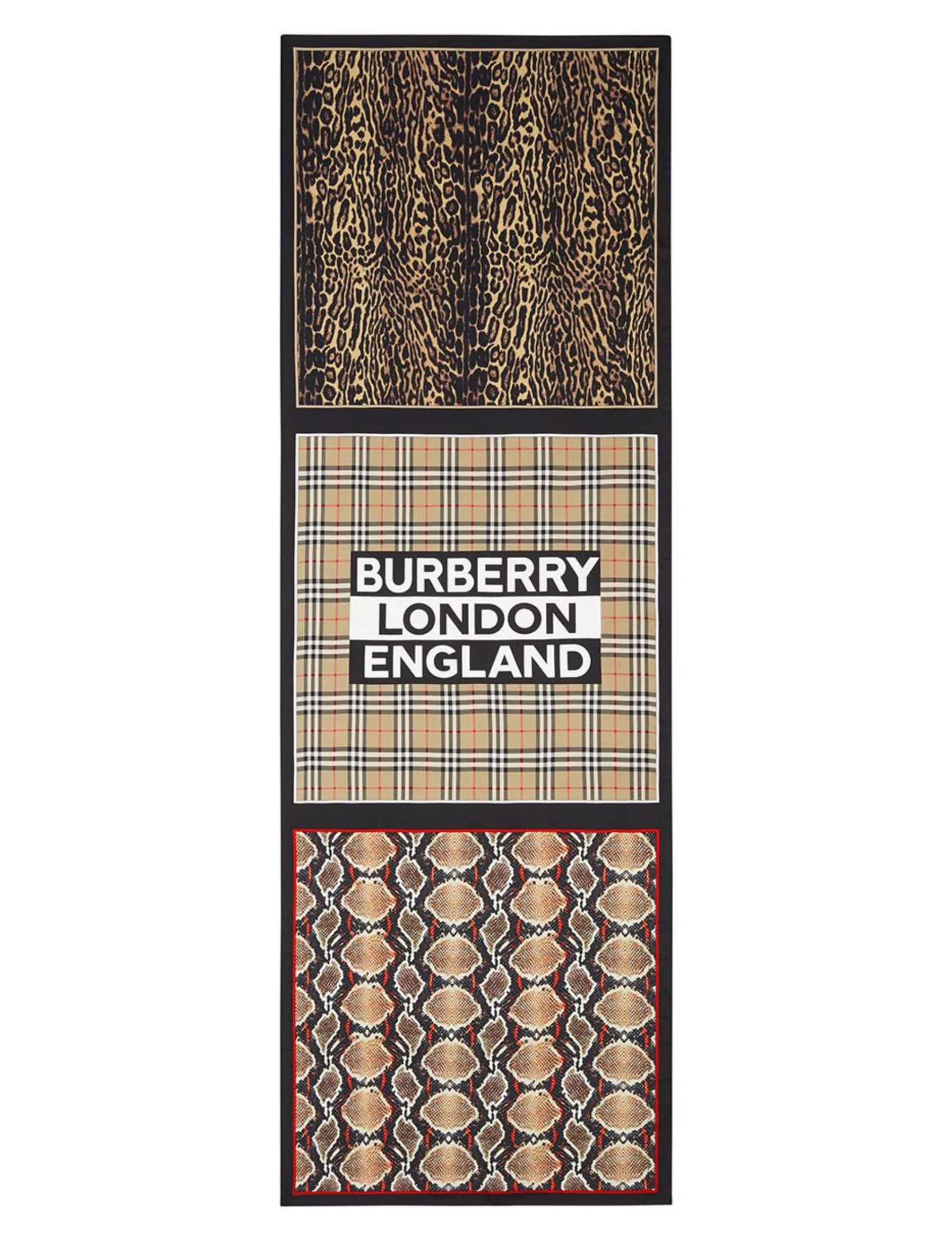 Picture of Burberry | Multi-Print Mulberry Silk Scarf